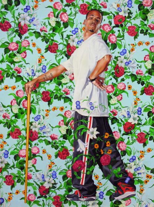 "Kehinde Wiley, Le Roi a la Chasse, 2006, Oil on canvas, 96"" x 72"" 