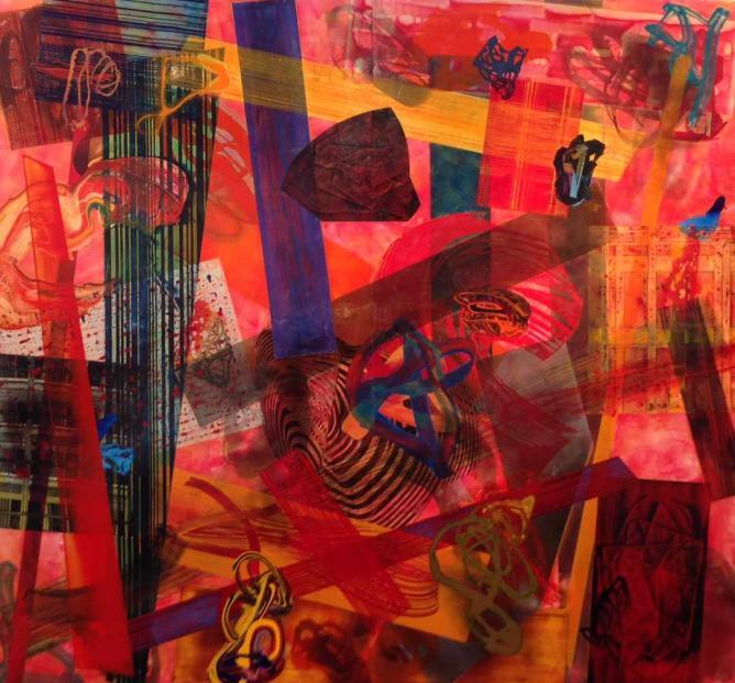 Chime, by Frank Owen at Nancy Hoffman gallery © JoAnneh Nagler