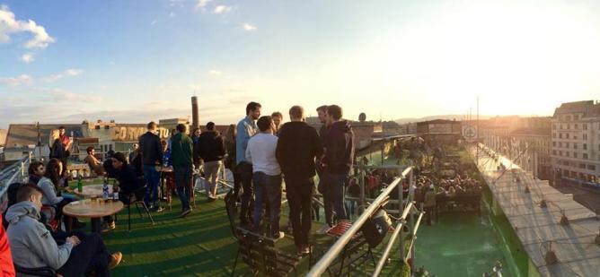 Corvintető Rooftop Terrace   © Corvintető