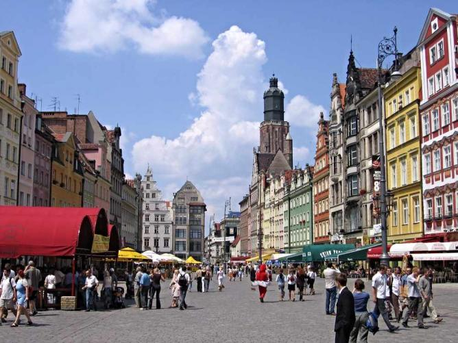 Wrocław's Old Town market square | © Julo/WikiCommons