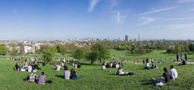The Top Of Primrose Hill | © David Iliff/WikiCommons