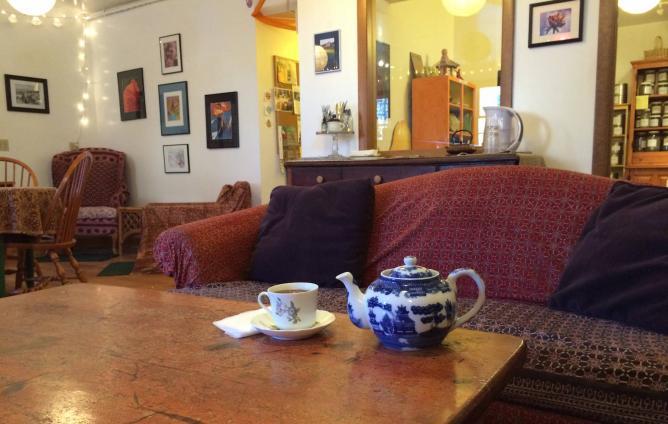 Cozy lounge in Twilight Tea Lounge | Courtesy of Twilight Tea Lounge