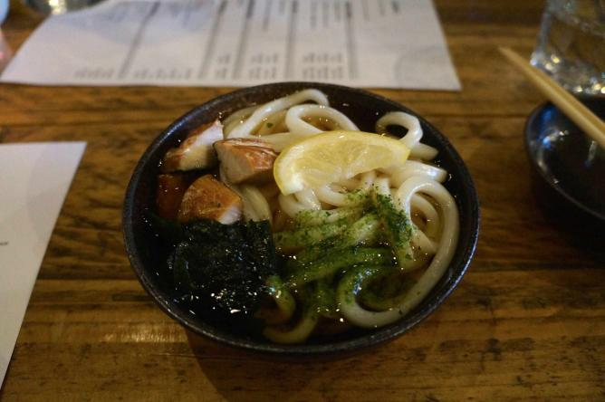Udon Noodles with Smoked Mackerel