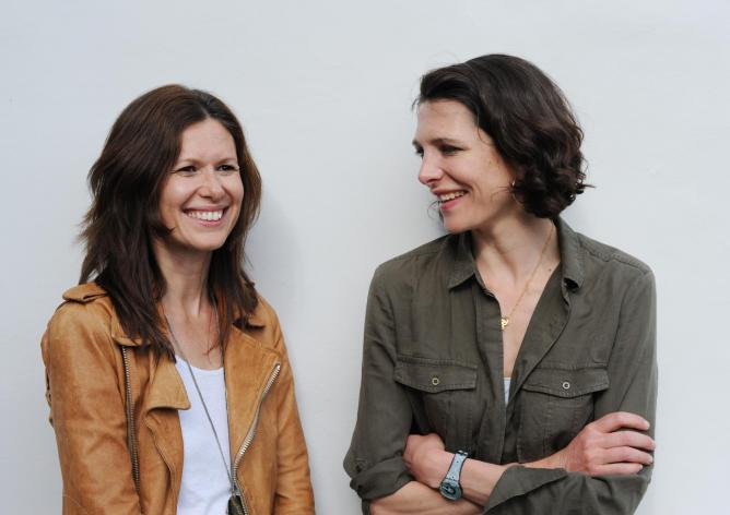 Thomasina Miers and Laura Harper-Hinton of the Fork to Fork Festival © Gerber Comms