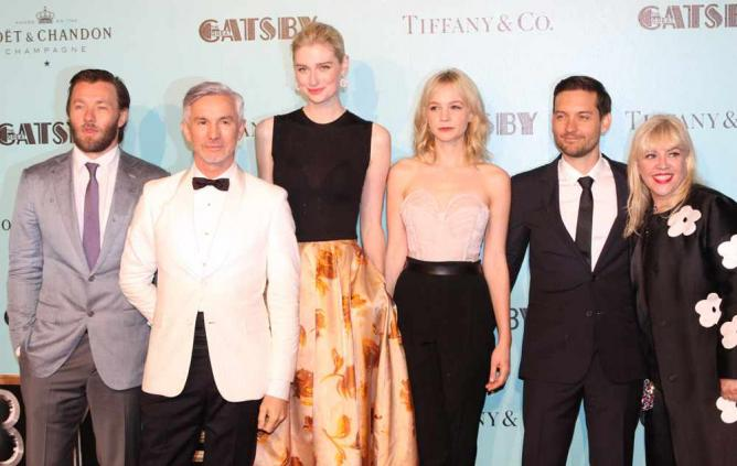 Baz Luhrmann (second to the left) with the cast of The Great Gatsby © Joel Edgerton/ Flickr