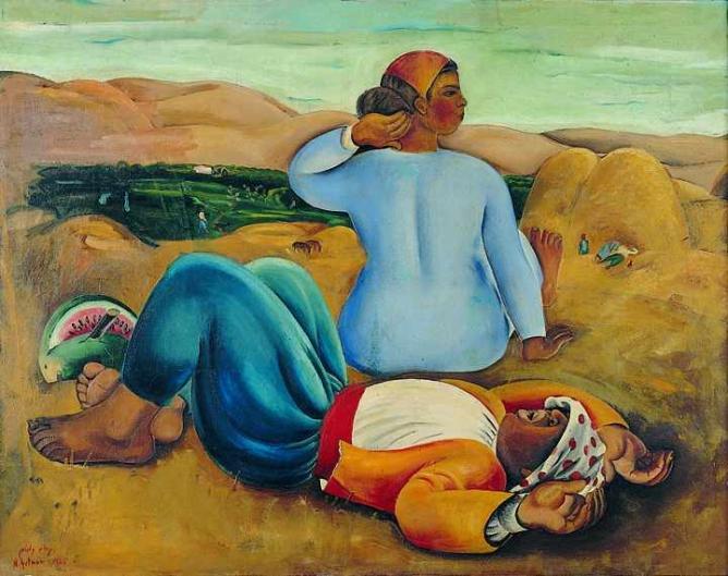 Resting at Noon, Nachum Gutman 1926