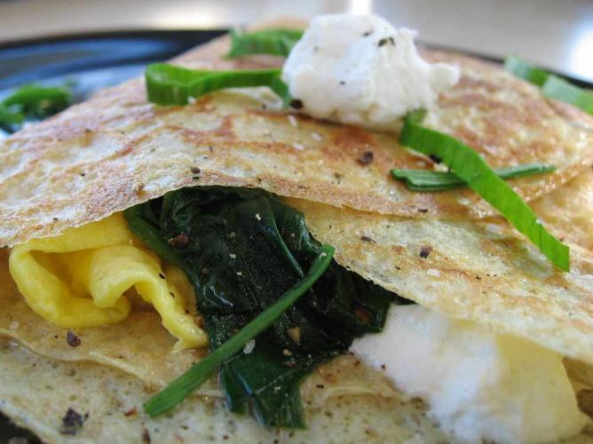 Spinach crèpe | © beautifulcataya/Flickr