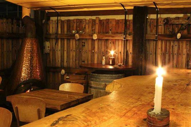Heaven Woodfire Pizza's rustic wooden interior | Courtesy of Heaven Woodfire Pizza