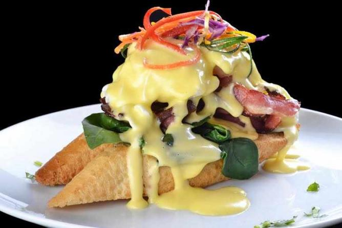 Eggs Benedict | Courtesy of Café Melba