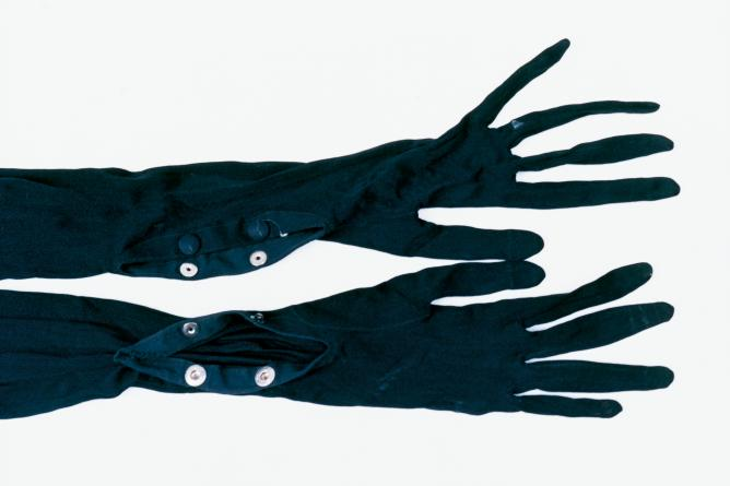 Frida Kahlo's black gloves