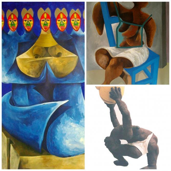 Three pieces of Yao's work.| Image courtesy of Yao Metsoko and Sabine La Nechet