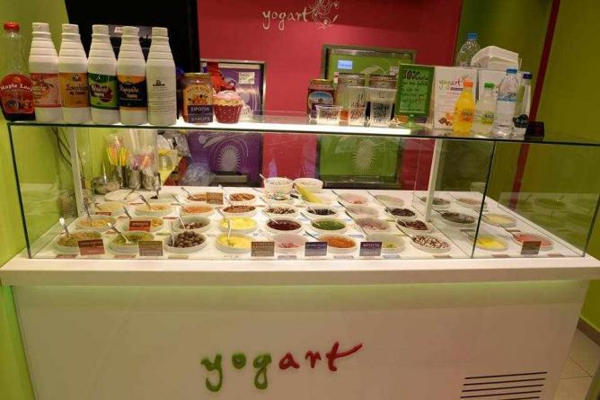 Frozen yogurt toppings   Courtesy of Yogart