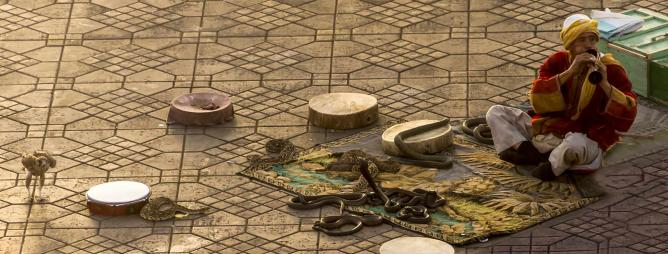 A snake-charmer in Marrakech | © foto.jam/ Flickr