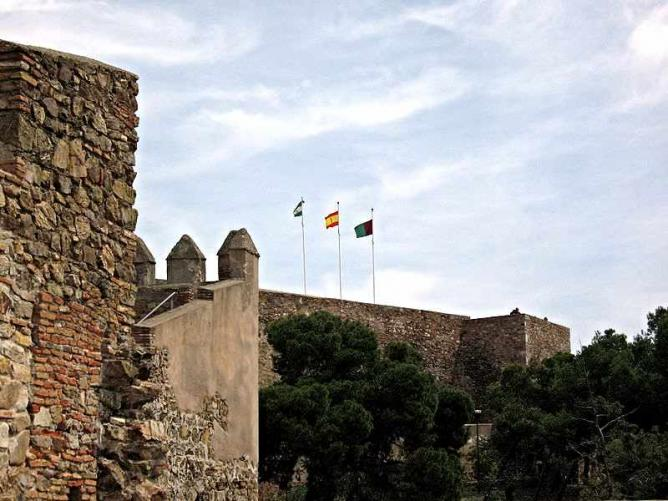 The castle of Gibralfaro I © Olaf Tausch/WikiCommons
