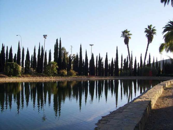 The serene lake of Málaga's botanic garden I © Lilange/WikiCommons