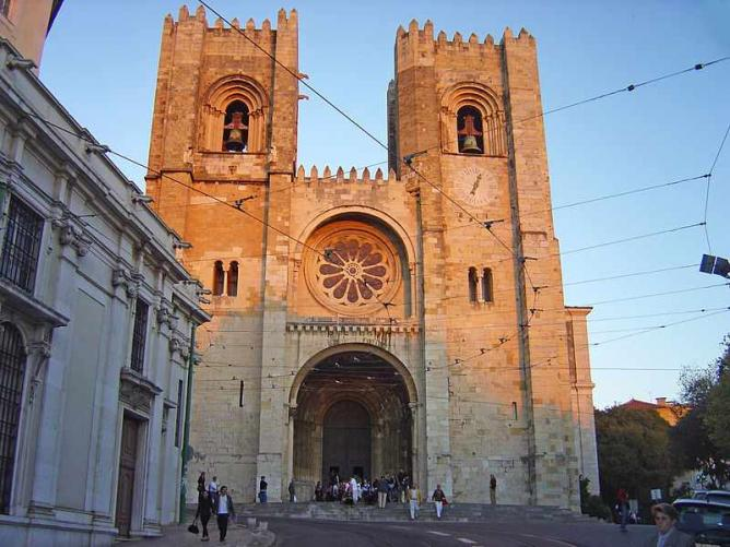 The front face of Lisbon Cathedral | © Husond/WikiCommons