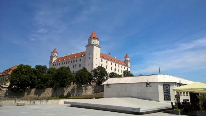 Bratislava Castle by Robert Hugill