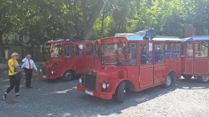 Bratislava tour buses by Robert Hugill