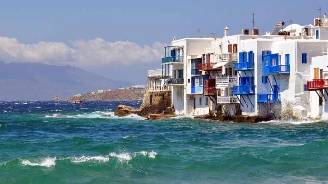 Traditional Aegean houses | © Russavia/WikiCommons
