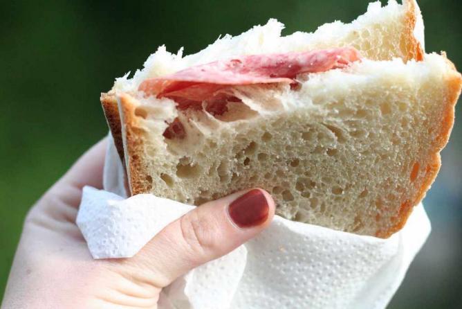 A salami sandwich.
