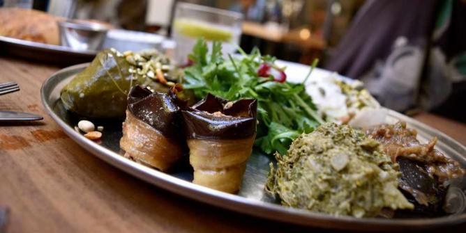 Nanuchka's 7 salad Pchalli | © Arielle Macey-Pilcher