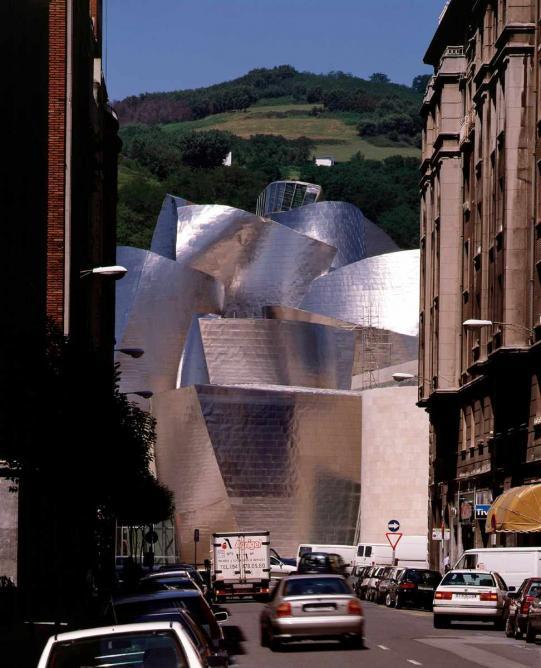 The Frank Gehry-designed Guggenheim Museum in Bilbao, Spain.