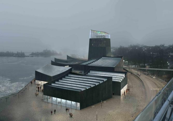 The winning design for the Guggenheim's new location in Helsinki, Finland.