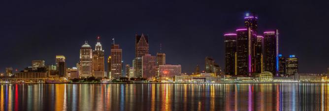 Detroit Panorama by night | © Jason Mrachina/Flickr