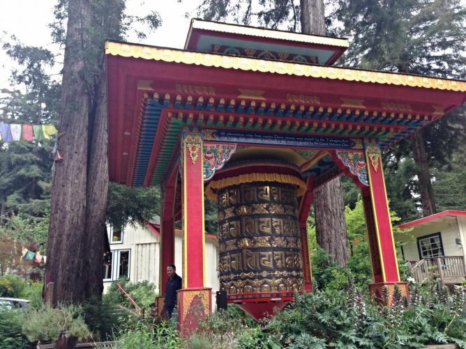 Prayer Wheel at Land of Medicine Buddha | © JoAnneh Nagler