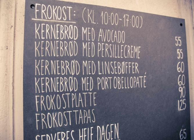 Menu Board at SimpleRAW