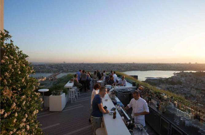 The gorgeous roof terrace | Courtesy of Mikla Restaurant