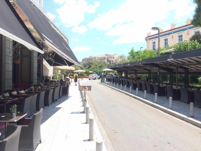Irakleidon street, minutes away from the Acropolis | Courtesy of Sin Athina