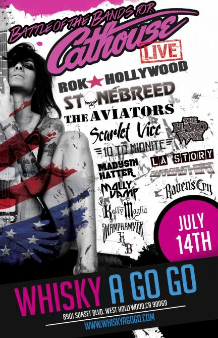 Battle of the Bands for Cathouse Live Promotional Poster