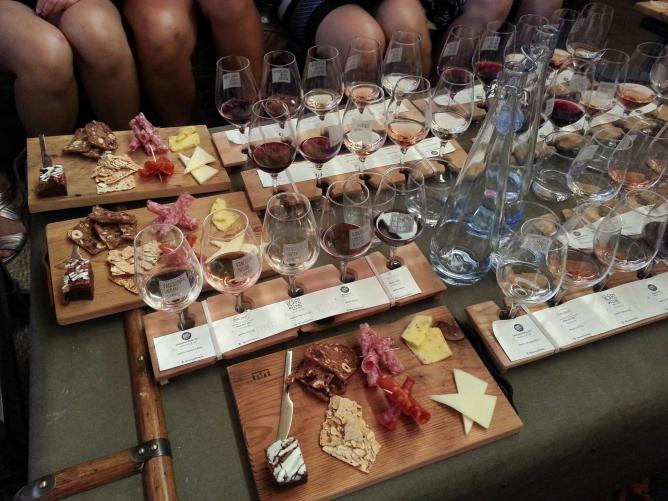 Wine flights and appetizers at Vancouver Urban Winery.