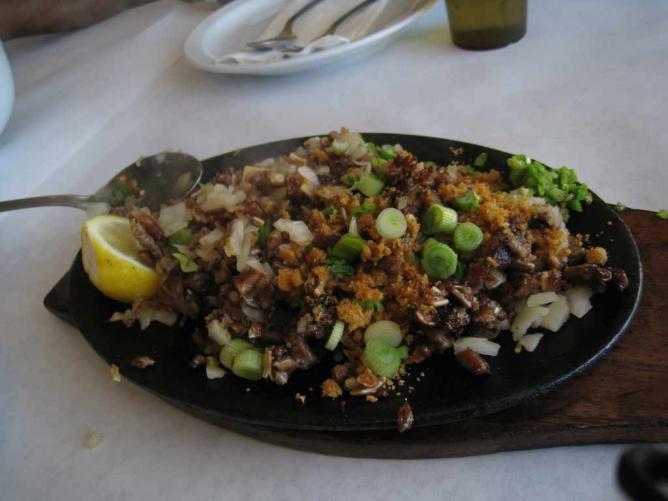 Pork Sisig, a traditional Filipino dish.