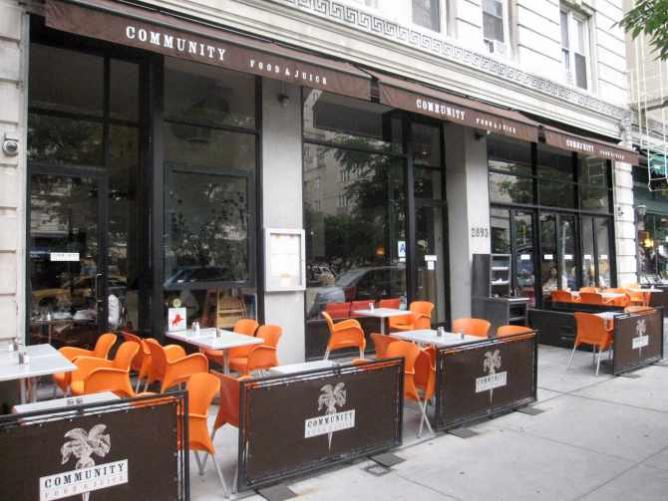 Community Food & Drink patio seating   ©Philip/Columbia Eats
