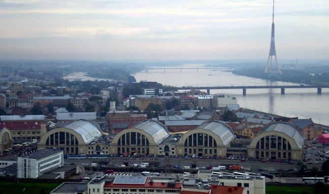 Aerial view of Riga Central Market   © Kulmalukko/Wikitravel