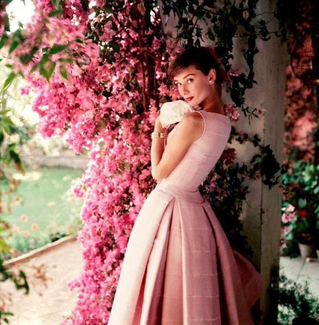 Audrey Hepburn photographed wearing Givenchy by Norman Parkinson, 1955   © Norman Parkinson Ltd