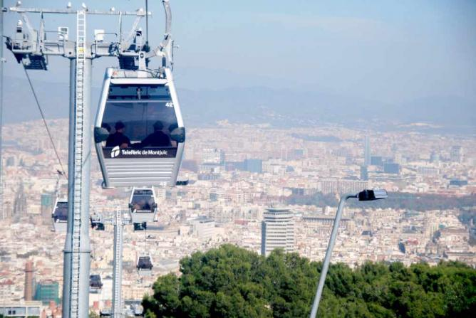 Montjuic cable car © SpirosK photography/Flickr