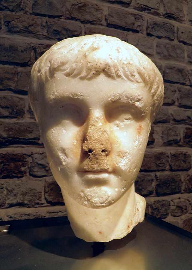 A marble head of the Roman Emperor Caligula| © Carole Raddato/WikiCommons