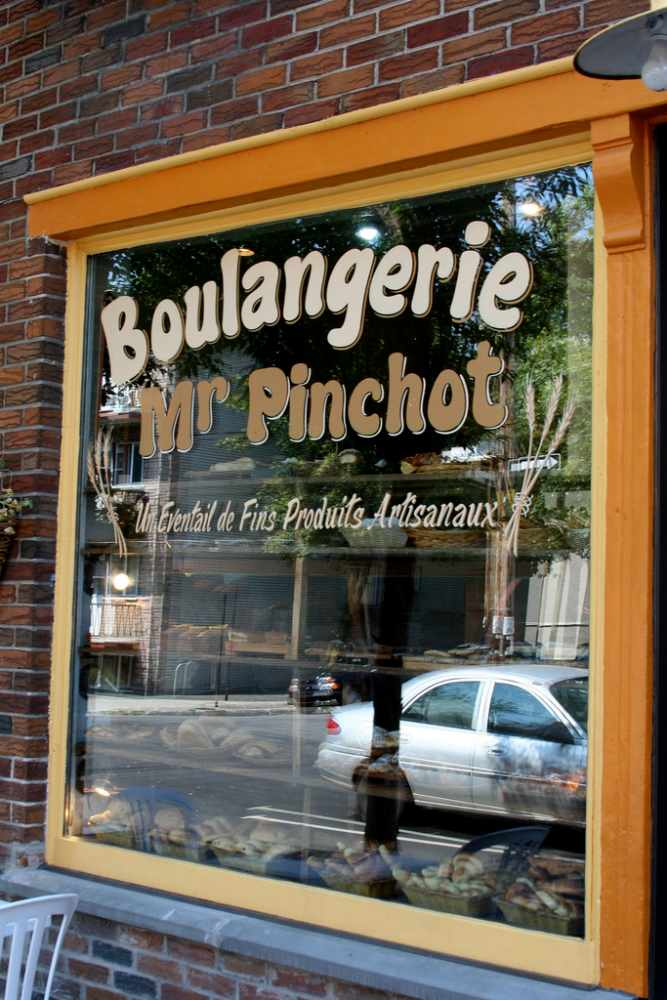 Window display of Mr Pinchot Boulangerie, Montreal