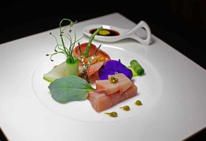 Sashimi from the Hamachi fish   Image courtesy of Shiki