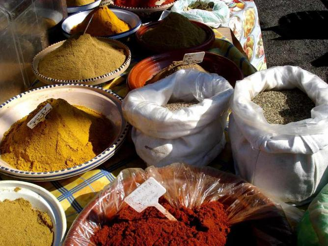 Spices at Carouge market