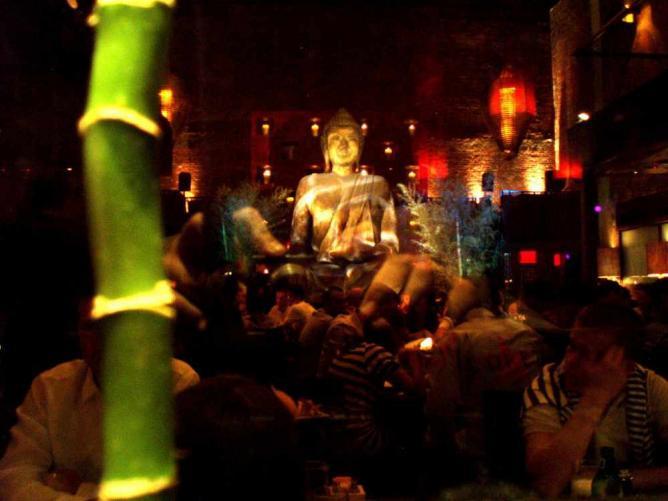 the 16-foot Buddha at TAO