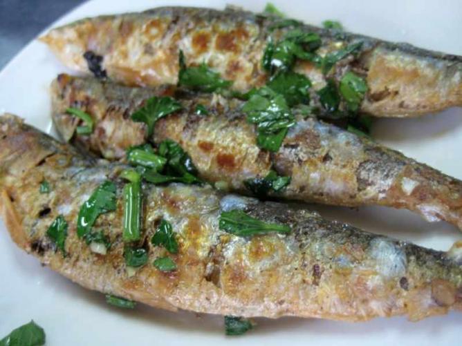 Plancha Sardines
