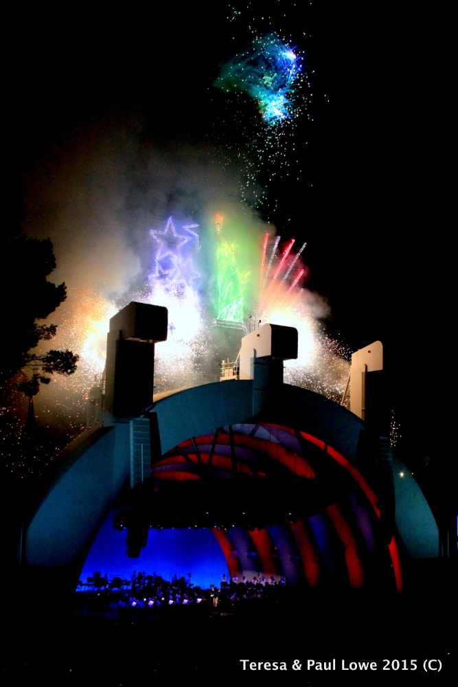 Enjoy a great musical performance and a fabulous fireworks show at The Hollywood Bowl