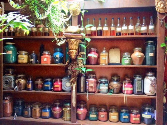 Precious oils and incense at The Sword and the Rose   © Nancy Garcia