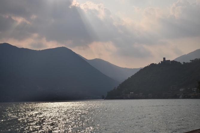 The coast of Monte Isola, Lake Iseo