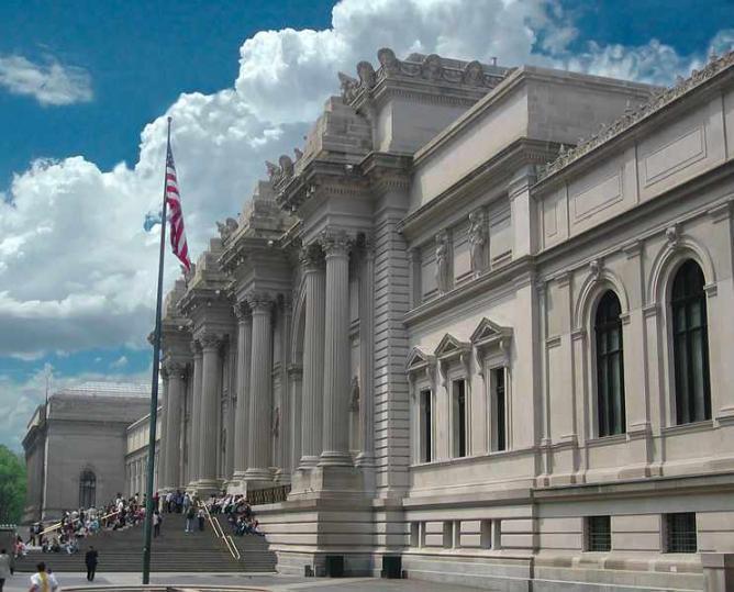 the Metropolitan Museum of Art's entrance
