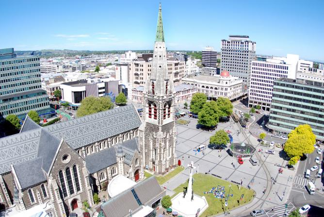Cathedral Square, Christchurch © Geof Wilson/Flickr